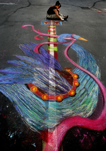 "As 40 local artists use chalk to decorate the streets of Easton Town Center for ""Chalk the Block"" tomorrow, visitors can watch them work, participate in a community art project and listen to music in the town square. The work will remain on display through Sunday. Learn more about the event and artists on Dispatch.com"