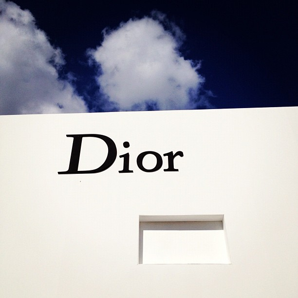 businessoffashion:  The scene outside @Dior is serene… (Taken with Instagram)