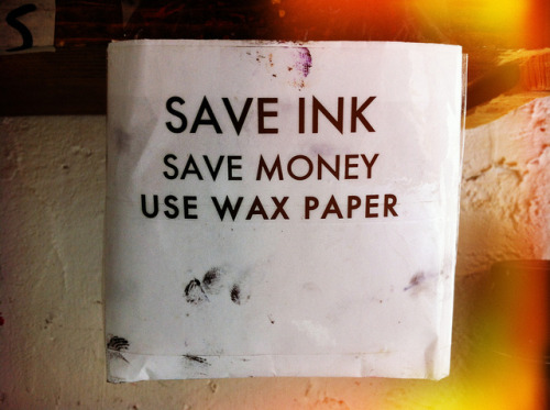 "Printers' National Environmental Assistance Center ""Ink Fact Sheet"" //// Instructions from Chicago's community print studio, Spudnik Press"