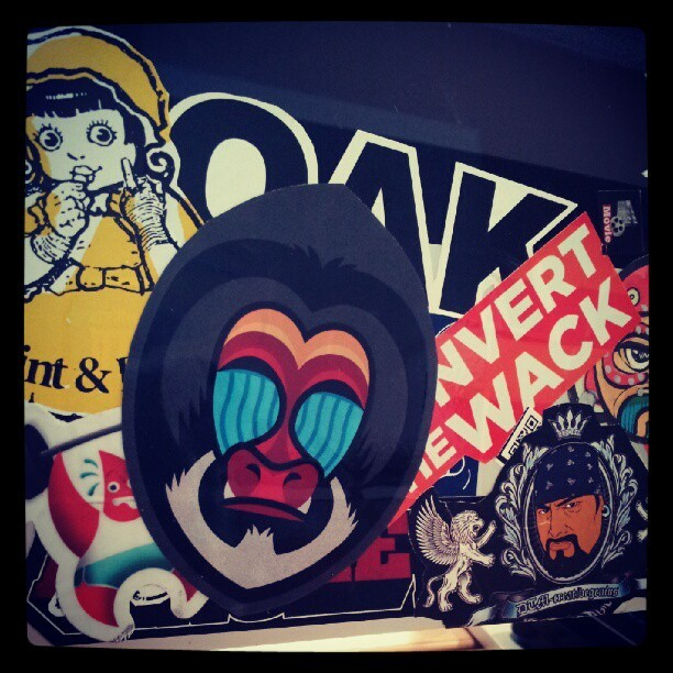 newest #sticker on the #imac #mandril by @mailchimp w #DTM #velocityscreenprint @velocityprint @dubelyoo @dueprops (Taken with Instagram at 151 LOCUST | ATLANTA COWORKING SPACE)