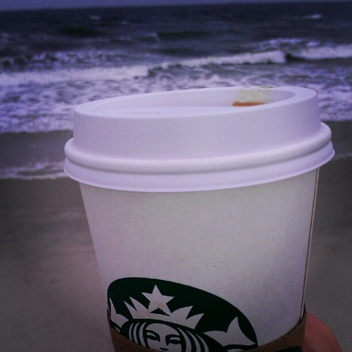 Starting my day off right!! #beaching #relaxing #Starbucks #coffee (Taken with Instagram)