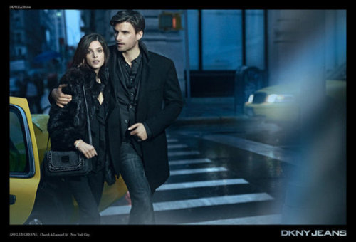 Johannes Huebl and Ashley Greene for DKNY Jeans