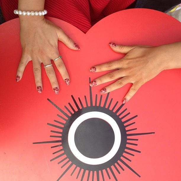 @poppyscotland inspired nails on a giant Poppy! Modelled by the lovely @catQB - @DADA (Taken with Instagram)