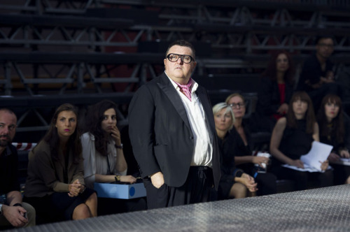 Alber Elbaz, creative director of Lanvin, at the fashion house's Spring/ Summer 2013 show.