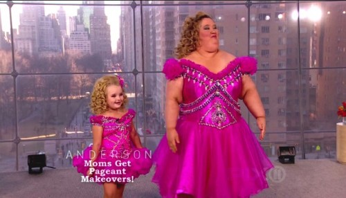 "tvhangover:  It might sound insane to say, but TLC's Here Comes Honey Boo Boo is without a doubt one of the most honest pieces of television that's ever been filmed. And it's that honesty that has polarized and revolted its audience. There are four important ""plot points"" that happen on the last episode of Honey Boo Boo that very neatly and succinctly sum up that jarring conflict that has existed at the core of the show through its whole first season: First, Alana's family (The Thompsons (Alana is Honey Boo Boo btw)) tries to take a family portrait on the bank of a local river. At least, it looked like a river. Essentially, all 6 of the family members get together on the shore of a large body of standing water and bicker at each other until they get a useable photo. Then in the next sequence Alana's 18-year-old sister Anna gives birth to a baby girl named Kaitlyn. The family is genuinely ecstatic and wonderfully supportive of the new addition to the family. It's important to note, though, that baby Kaitlyn was born with three thumbs, two on her right hand, totaling eleven fingers… because like of course she has eleven fingers, sigh… After that it is revealed that Alana's father Sugar Bear, a beautifully kind and patient man who is never once seen on camera without a beaming smile and a mouth full of chewing tobacco, has a gay brother. The family loves their gay uncle and proudly and lovingly refer to him as Uncle Poodle. When the producers ask why, Alana's middle sister Pumpkin quite bluntly explains that ""Alana calls all gay people poodles."" The family then has a big grass fight in the backyard with their Uncle Poodle. Lastly, and probably the least important part of the finale covers Alana's pageant. And really, the beauty pageant portion of this show is so completely not the point of this that it really isn't worth talking about. These four moments make no sense together. And most episodes follow this format. Alana is being fit for a prosthetic ass in one scene, in the next she's watching Fourth of July fireworks on a lakeside sitting on her mother's lap. And it's safe to say that mainstream viewers have never seen a raw feed of the grossness, baseness, and undignified weirdness of a real family on TV. And in that same swing, most people aren't used to seeing the real and downright fucked up-ness that comes with actually loving your family. A loving family is goddamn fucked up.  Alana's family is a demented group of Walmart-brand Morlocks that chug liters of soda and actually at one point are seen EATING FUCKING MELTED BUTTER AND KETCHUP. And worse than that, the butter-ketchup sauce they wolf down like frenzied monkey-people is apparently a family recipe that goes back two generations. That is real. That is the fucked up nightmare world that exists inside the walls of every American home, to some extent. It's that really American swirl of rampant commercialistic detritus that we're forced to mold around our lives around. The Thompsons live in rural Georgia, the heart of the post-Walmart wasteland that has eaten up our culture like some kind of HP Lovecraft monster, and yet they're just trying to do their best. They live next to a gas station mini-mart where they do most of their shopping. Their mother is an extreme couponer with hoarding tendencies. That is the new American reality right there. And the horrible, sad, soul-crushing 21st century American culture of families just trying to go with it. Alana's mom June is the mother of all the girls in the house. She had her first daughter when she was 15. That daughter, Anna, is the 18-year-old who has the eleven-fingered baby. It's then explained that June (or ""Mama"") worked in a packing plant until an industrial accident gave her what she calls ""Forklift Foot."" ""Forklift Foot"" is, according to Mama, a condition you get after a forklift mangles your foot beyond all recognition. She now cannot work and receives disability checks for it. I think. Pretty sure. Details are sketchy on it. Alana's father Sugar Bear works in — I kid you not — chalk mines. The man works in a fucking chalk mine. He is not married to June and is only the biological father of Alana. He does not say much, but anything he does say is usually a painfully lovely statement about how much it means to him that the girls treat him like a father. The family lives simply and doesn't think too much about anything outside their immediate world, but never maliciously. But we're used looking at the xenophobic rural Americans that the news shows holding signs outside of abortion clinics. We aren't however used to seeing these people as just people. The Thompsons aren't branded as villains or even as particularly interesting or useful people like in similar shows like Swamp People. They aren't loud-mouthed political pawns or diamonds in the rough gimmicks, they're just a really normal and weird family that does weird shit together to pass the time. It's sad and amazing that something so genuine is so immediately gross to mainstream audiences. But it's nice to know that Honey Boo Boo did so well in ratings. It should be a good thing that there was a show that showed a real family doing real stuff. Like a scene where a 40-year-old grandmother bottle-feeds her granddaughter, smiling proudly from the crowd, as her youngest 7-year-old daughter, on stage in a sparkly pink pageant gown, is surprised by her gay uncle carrying their pet pig up the stage steps. Yes, that happened. In Little Miss Sunshine the main characters have a super mumblecore revelation that's like ""fuck it, man, like fuck like people who judge you and shit man."" And that's great for movies, but in real life, things are way more complicated and stranger. In Honey Boo Boo, there's a moment where Alana puts make up on her mother and then tells the camera that she was proud to make her Mama look beautiful. And that's why Here Comes Honey Boo Boo is important.  Because if you think about it, the screen that sits in every family's living room constantly tells you that you aren't good enough, or pretty enough, or interesting enough. It shows you pretty ""Modern"" families having easily resolved problems and loving each other at PG-13 levels of intimacy that fucking suck. And the most messed up thing about Honey Boo Boo is that when a show finally attempted to get close to showing some sense of the nonsense-reality we all live in people were horrified. And that's sad and poignant and something to think about I guess. Guest post by Ryan Broderick who blogs here."