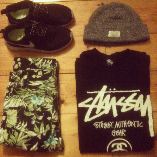 y0emerald:  Outfit picks: roshes, 10 deep, stussy.