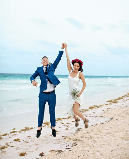 A Casual, Destination Wedding in Tulum, Mexico | Brides.com