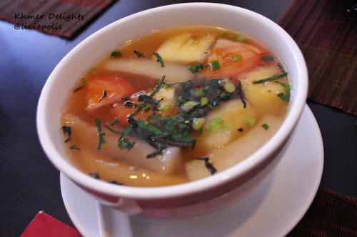 khmer delights,Khmer Delight Signature Soup by liciapolis on Flickr.