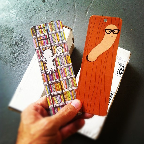 Doodlers Anonymous bookmarks just arrived at our door. We'll be giving them away with each order from our shop. Art by Maki Kawakami and Jernej Gračner.