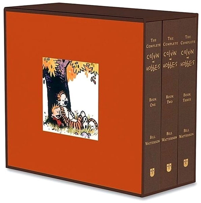 The Complete Calvin and Hobbles collection is a 1440 pages long trilogy that collects Bill Watterson's classic comics. I love it. Price: $90 [Amazon]