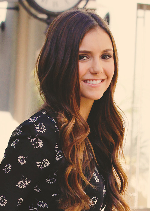 nian-dobrev:  Nina Dobrev - Arriving at/Leaving the set of 'Extra at the Groove'