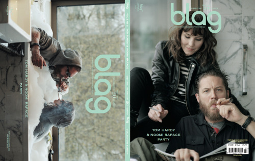 "Finally got my Blag magazine in the mail today! It's beyond beautiful. I'll urge any Tommy-fan who hasn't bought it yet to do so, not only are the photos very pretty, the interview is wonderfully long, deep, weird and hilarious. And boy can that man talk! I love it. So much. As instructed, I'm not posting from the magazine, but I'll just give you one quote which illustrates Tom's very grounded view on his chosen trade and on fame.   ""It's very strange job being an actor. Especially having now to some extent experienced being a successful one too - because at the moment, it feels like the world is kind of my oyster. But this is a sense of false security I don't really trust. I'm always ready to fall from favour, it's just a fraction of an inch, an arm's length, a poor choice away - not even necessarily my own choice either. And out here amongst the circus of it all, one can get an altogether unrealistic perspective and ungrounding experience of the world… never mind the privilege.""  Also, there's a long passage on the word 'specificity' - without any reference to Inception! Amazing. I chose not to be in magazine, but I see a few familiar names and faces from around here. Thanks Sarah & Sally for a truly lovely magazine!"