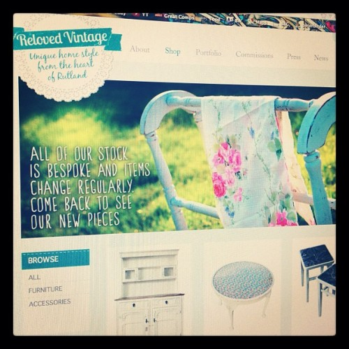 Our new online shop has just gone live at relovedvintageinteriors.co.uk - Please take a look and tell your friends  (Taken with Instagram)