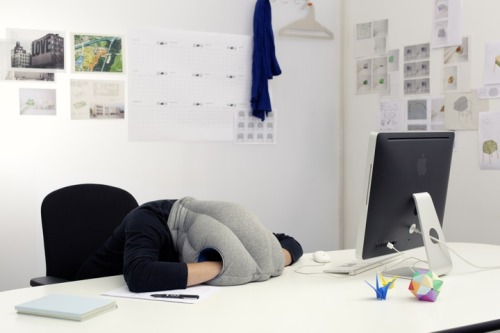 TGIF. the ostrich pillow by kawamura-ganjavian  this is a real thing & i want one. [right now]