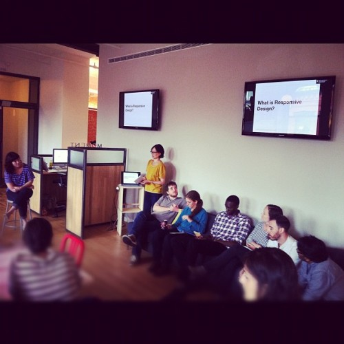 Design Lunch @momentdesign: Case Study on Responsive Design (Taken with Instagram)