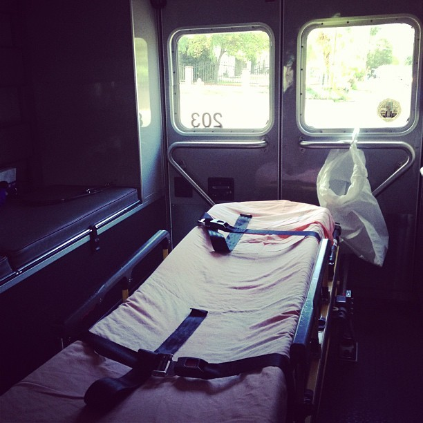 Where I work - #emt #ems #911 #lacounty #losangeles #nohero #24hours #attendant #gurney #altadena #ambulance #code3 (Taken with Instagram)