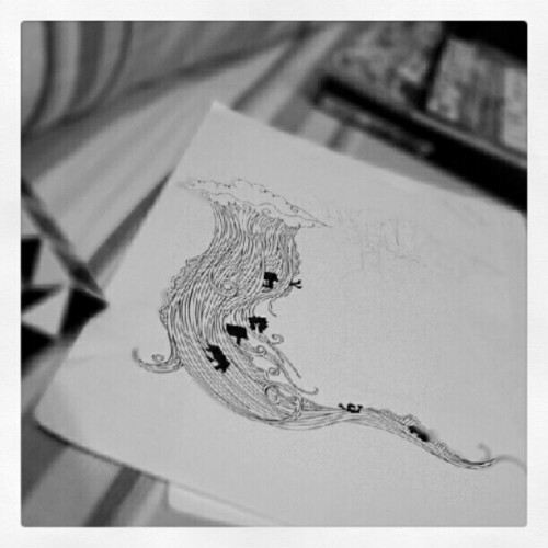 Late night sketch #sketch #bw #instgrm #ptsgrp  (Taken with Instagram)