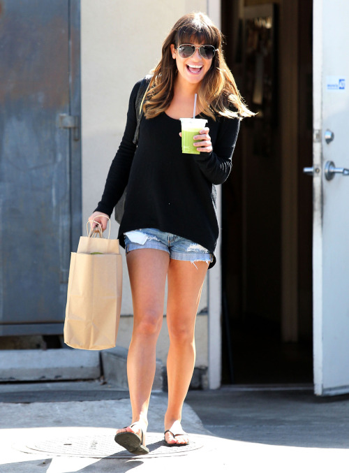 Lea Michele is pretty in the city.