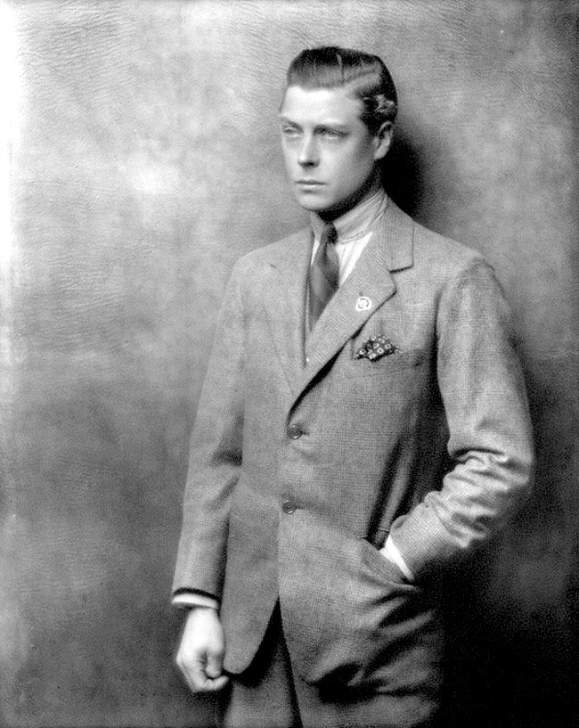 The Glen Check Suit, 1925. The prince who would become the Duke of Windsor.