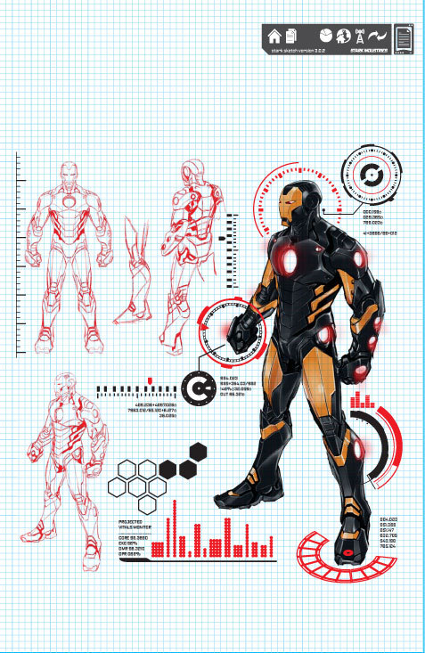 IRON MAN #1 PAGULAYAN DESIGN VARIANT 1:25
