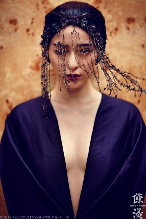 suicideblonde:  Fan Bing Bing photographed by Chen Man for i-D, Fall 2012