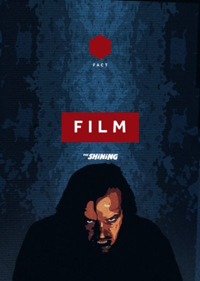 Unused The SHINING brochure cover for the FACT Cinema, Liverpool.