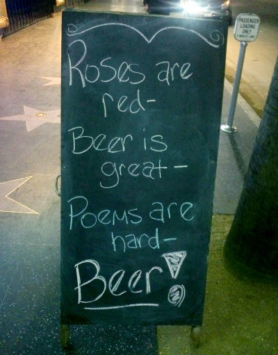 BEER! via Funny Signs