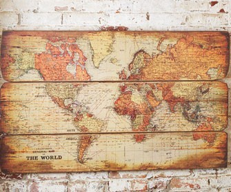What a neat way to decorate with a map! Full tutorial here.