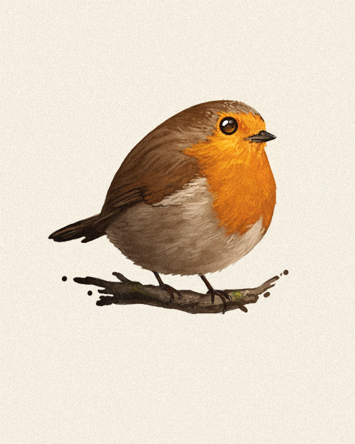 Mike Mitchell - Fat Bird prints are in the shop!
