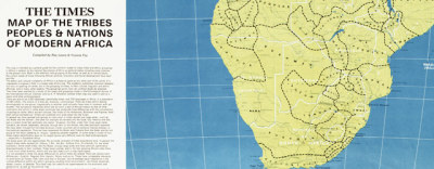 Map: Times of London map of Africa (1972) originally posted to the BIG Map Blog.