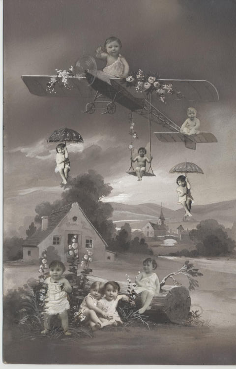 [Babies Floating in Bucolic Landscape], 1910s. (artist unknown ) … via The Metropolitan Museum of Art