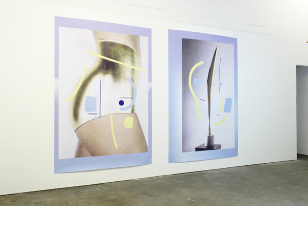 James Clarkson, Two birds in space, 2012, Installation view