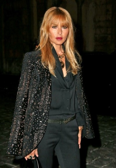 Stylist/Designer Rachel Zoe arriving at the  Lanvin 2013 Spring/ Summer ready-to-wear fashion show in Paris..