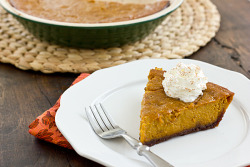Pumpkin Gingersnap Pie.