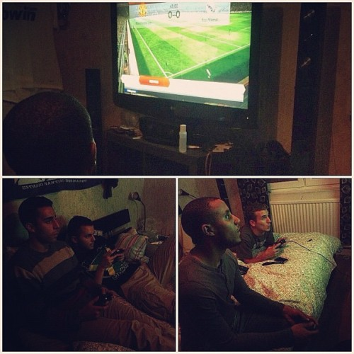 While y'all out clubbin it, We inside playin it… FIFA 13 #Soccer #Football #KushClub #Algeria #Morocco #Egypt #Somalia #Yemen #Young #Handsome #And #Muslim #Fifa13 #Game  (Taken with Instagram)