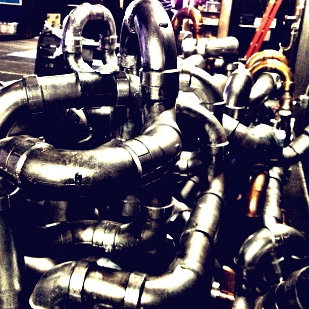 Overly ambitious plumber or @BlueManGroup instrument? (Taken with Instagram)