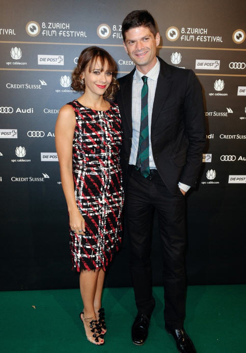 Get the Look: Rashida Jones'sCeleste & Jesse Zurich Film Festival Premiere Oscar de la Renta Georgette Embroidered Tweed Dress and Christian Louboutin Bow Bow Patent Leather Sandals