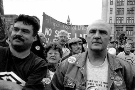 Today in labor history, September 28, 1995:  Dockworkers who refuse to cross a picket line are locked out and fired by their employer, the Mersey Docks and Harbour Company in Liverpool.  Their struggle for reinstatement lasted over two years.
