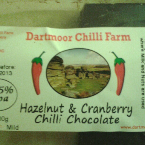 "Despite the ""mild""rating, this #chilli #chocolate has one hell of a kick, it's lovely! (Taken with Instagram)"
