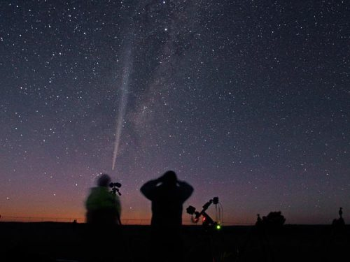"understandingtheuniverse:   New Comet Discovered—May Become ""One of Brightest in History"" Next year comet 2012 S1 might outshine the moon. If astronomers' early predictions hold true, the holidays next year may hold a glowing gift for stargazers—a superbright comet, just discovered streaking near Saturn. Even with powerful telescopes, comet 2012 S1 (ISON) is now just a faint glow in the constellation Cancer. But the ball of ice and rocks might become visible to the naked eye for a few months in late 2013 and early 2014—perhaps outshining the moon, astronomers say. The comet is already remarkably bright, given how far it is from the sun, astronomer Raminder Singh Samra said. What's more, 2012 S1 seems to be following the path of the Great Comet of 1680, considered one of the most spectacular ever seen from Earth. Continue Reading at National Geographic. Image of Comet 2012 S1 from Space.com"