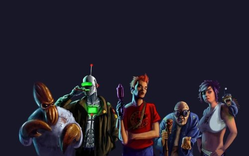 Alternative Futurama Arthttp://scificity.tumblr.com