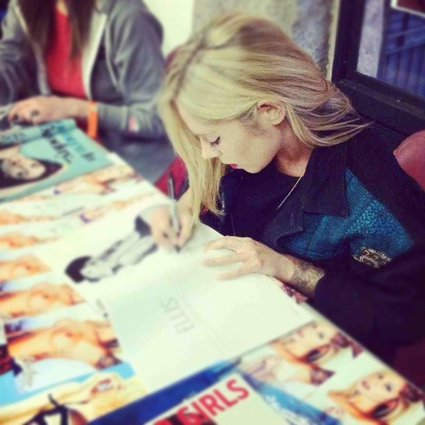 Signing for @walnutwax <3  (Taken with Instagram)