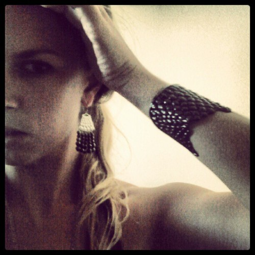 Feeling #dark&sexy with the Sky Serpent Cuff #statementcuff #pyrite #lookbook #handmadejewelry  (Taken with Instagram)