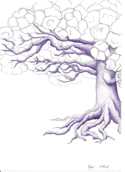 eatsleepdraw:  i drew a tree in pen. never really tried to draw a tree before so i'm very pleased with the way it turned out. i really like drawing but i just wish i could find the energy, time and confidence to practice more often.Lynn, Belgium.