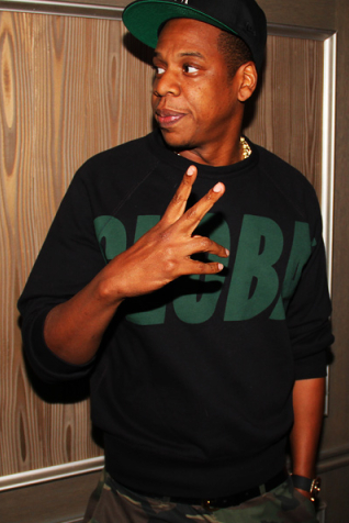 Jay-Z at the launch party for NBA 2K13.