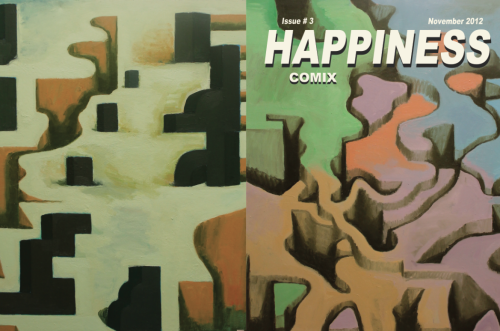 Clay Schiff's front & back cover for Happiness #3 (which will be a special double issue), coming out in November. order issues 1 & 2 here *design & layout by Leah