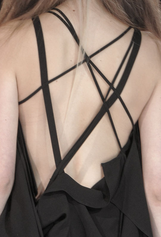 roitfeld:  Yohji Yamamoto S/S '13  Stylish and very elegant back! Love this look.