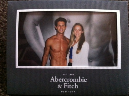 Me with Abercrombie and Fitch Model, London