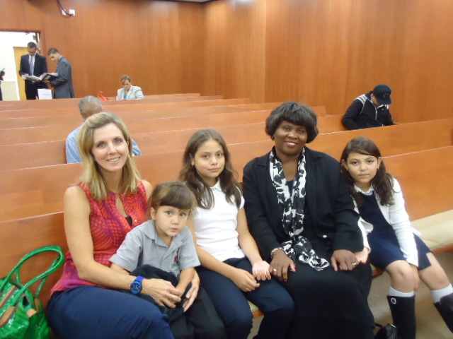 "Students at 186th Street Elementary School Honored at Gardena City Council Meeting  Rene and Rachelle Rosiles were asked to lead the flag salute at the Gardena City Council Meeting on Tuesday, September 25, 2012.  The girls, along with their parents, teacher, and principal were treated to a wonderful surprise.  They had a chance to meet Carmelita Jeter, an Olympic Gold Medalist, one of the fastest women in the world, and a native of the Gardena community.   Carmelita Jeter also graduated from California State University, Dominguez Hills and fondly remembers running up and down the streets of Gardena.  Ms. Jeter, also known as ""The Jet"" was being honored by the Gardena City Council Members and Assemblyman Steven Bradford for her outstanding accomplishments.  It was a special moment for the 4th and 5th grade sisters who were selected to represent the Wise Owl Nation because they are soaring academically, artistically, and peacefully.   By: Marcia Sidney-Reed, Principal 186th Street Elementary School  Thank you for sharing the good news Ms. Reed!"