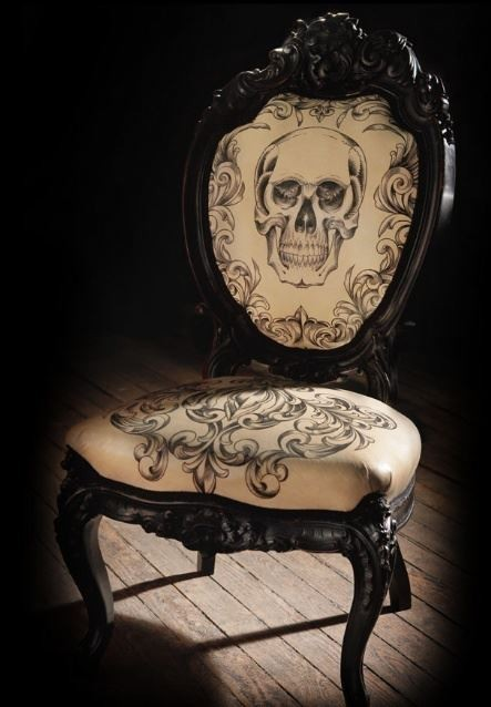 another skull chair